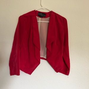 Crop top blazer